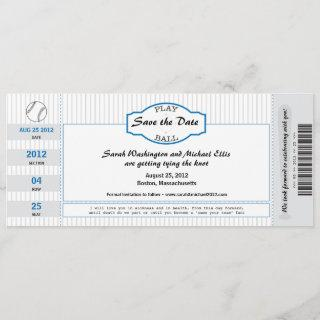 Baseball Ticket Save the Date