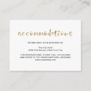 Basic Elegant Faux Gold | Accommodations Enclosure Card