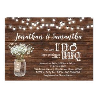 BBQ before I do couples shower country chic Invitations