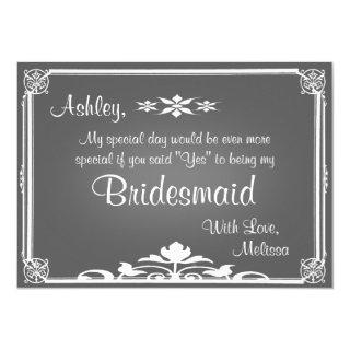 Be My Bridesmaid | Chalkboard Invitation