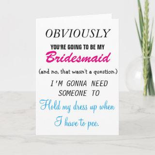 Be my Bridesmaid - Future Sister-in-law Invitations