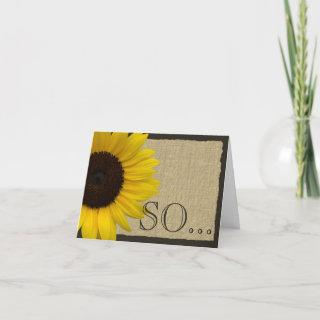 Be My Bridesmaid Rustic Sunflower Invitations