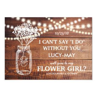Be My Flower Girl | Rustic Country Bridesmaid Invitation