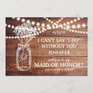 Be My Maid of Honor | Rustic Country Bridesmaid Invitations