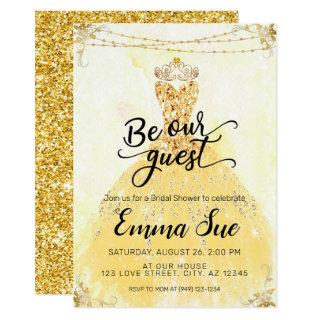 Be our Guest Beauty and the Beast Bridal Shower Invitations