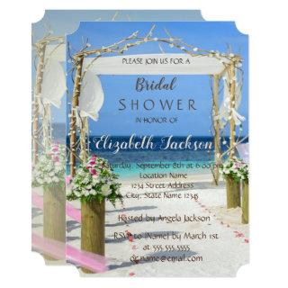 Beach Arbor Floral  Bridal Shower Invitations