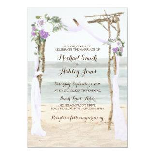 Beach Arbor Lavender Wedding Invitations
