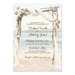 Beach Arbor Sunset Wedding Invitations