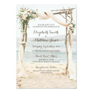 Beach Arbor Wedding Invitations