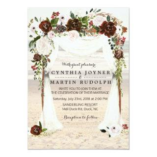 Beach Arbor Wedding Invitation