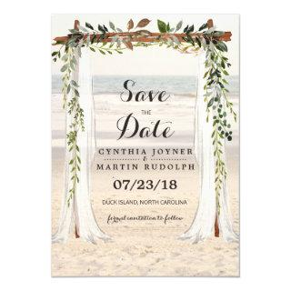 Beach Arbor Wedding Save the Date Invitations