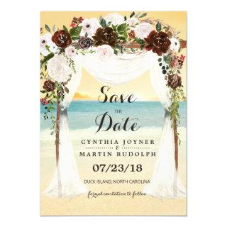 Beach Arbor Wedding Save the Date Invitation