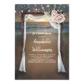 Beach Arch | Sea Sunset Bridal Shower Invitations