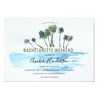 Beach Bachelorette Itinerary Invitation
