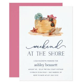 Beach Bag | Shore Weekend Getaway Invitations