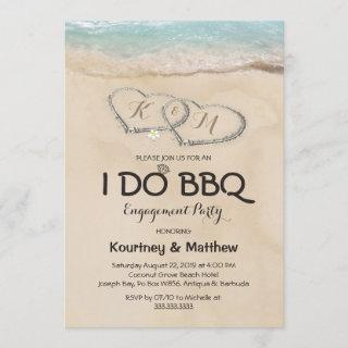 Beach I DO BBQ Engagement Party Invitations