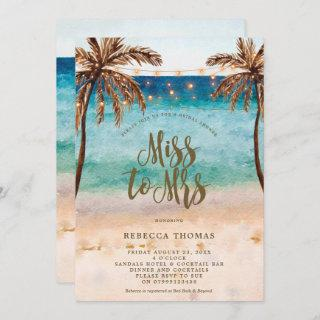 beach Miss to Mrs bridal shower invitation