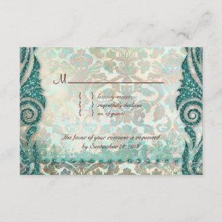Beach RSVP Wedding Reply Card Seahorse