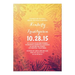 Beach Sunset Ocean Underwater Bridal Shower Invitations