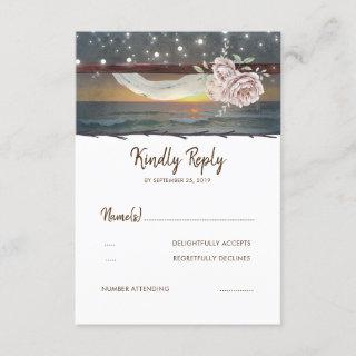 Beach Sunset Wedding RSVP