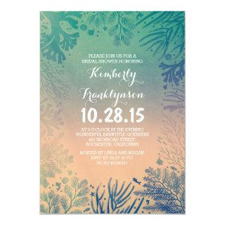 Beach Teal Ocean Underwater Bridal Shower Invitation