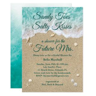 Beach Waves Bridal Shower Invitation