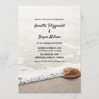Beach Waves Engagement Party Invitation