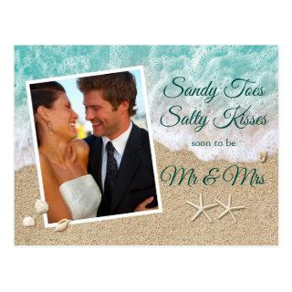Beach Waves Sandy Toes Salty Kisses Photo Postcard