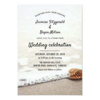 Beach Waves Wedding Invitation