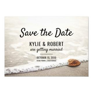 Beach Waves Wedding Save The Date Invitation
