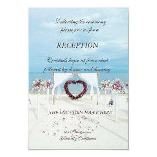 Beach  Wedding Floral Arbor  Reception Invitation