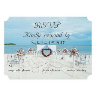 Beach Wedding Floral Arbor   RSVP Invitations