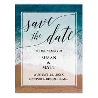 Beach Wedding Save the Date Announcement Postcard