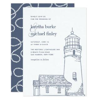 Beacon | Nautical Lighthouse Wedding Invitations