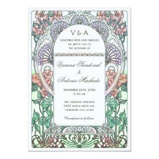 Beautiful Art Nouveau Wedding Invitations