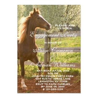Beautiful Equestrian Animal Country Engagement Magnetic Invitations