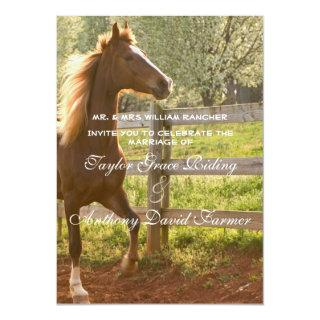 Beautiful Equestrian Animal Horse Country Wedding Invitation
