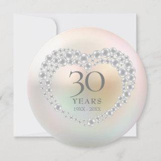 Beautiful Pearl 30th Anniversary Invitation