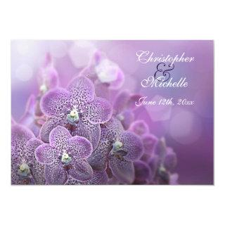 Beautiful Violet Orchids Flower Wedding Invitation