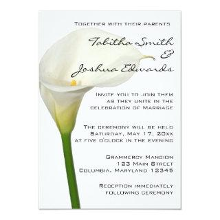 Beautiful White Calla Lily Wedding Invitations