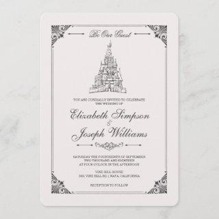 Beauty and the Beast | Fairy Tale Castle Wedding Invitation