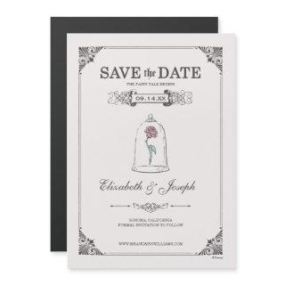 Beauty and the Beast   Fairy Tale - Save the Date Magnetic Invitation