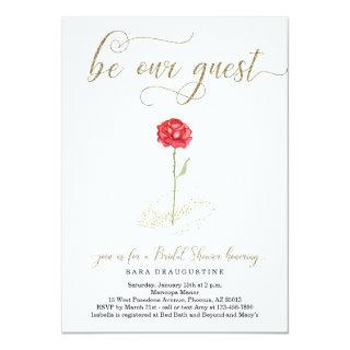 Beauty & the Beast Bridal Shower Invitations