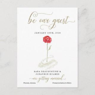 Beauty & the Beast Save the Date Announcement