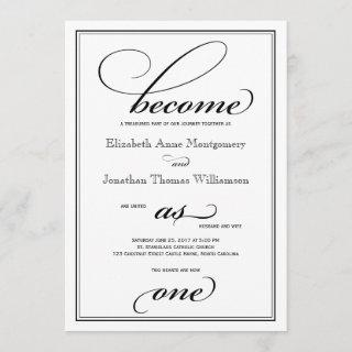 Become as One Christian Wedding Invitations