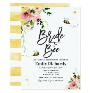 Bee Bridal Shower Invitation Floral Bride To Bee