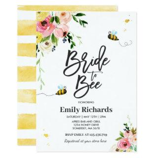Bee Bridal Shower Invitations Floral Bride To Bee