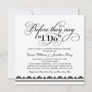 Before They Say I Do Black Wedding Couples Shower Invitations