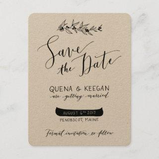 Berry and Canoe Save the Date - Quena and Keegan