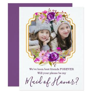 Best Friends Will You be My Maid of Honor Card
